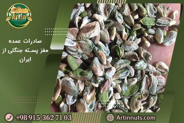صادرات عمده مغز پسته جنگلی از ایران