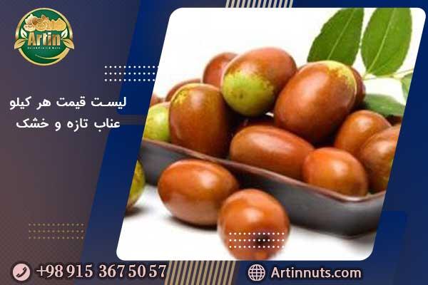 لیست قیمت هر کیلو عناب تازه و خشک