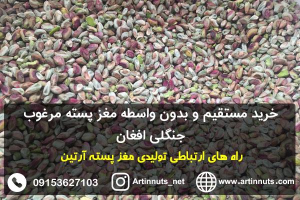 خرید مستقیم و بدون واسطه مغز پسته مرغوب جنگلی افغان