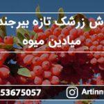 فروش زرشک تازه بیرجند در میادین میوه