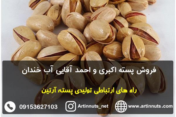 فروش پسته اکبری و احمد آقایی آب خندان
