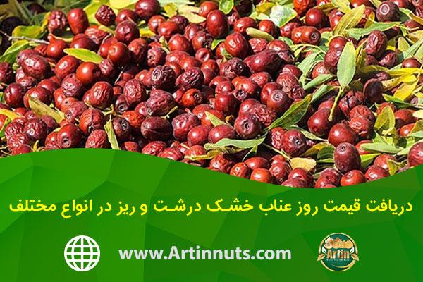 دریافت قیمت روز عناب خشک درشت و ریز در انواع مختلف