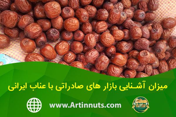 میزان آشنایی بازار های صادراتی با عناب ایرانی