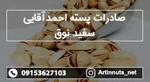 صادرات پسته احمدآقایی سفید نوق